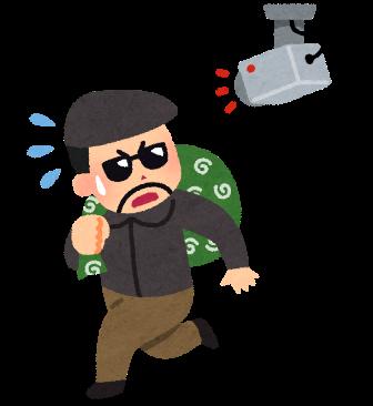 防犯カメラに監視される泥棒