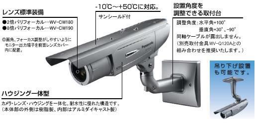 パナソニックカラーテレビカメラ防犯カメラ監視カメラ WV-CW180